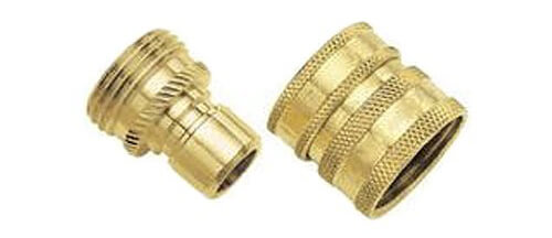 09QCGT 2-Piece Green Thumb Brass Quick Connector Set