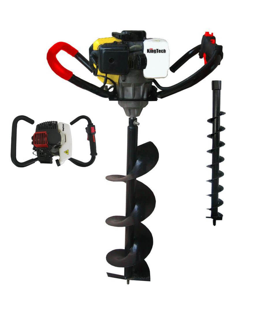 Gas post hole digger