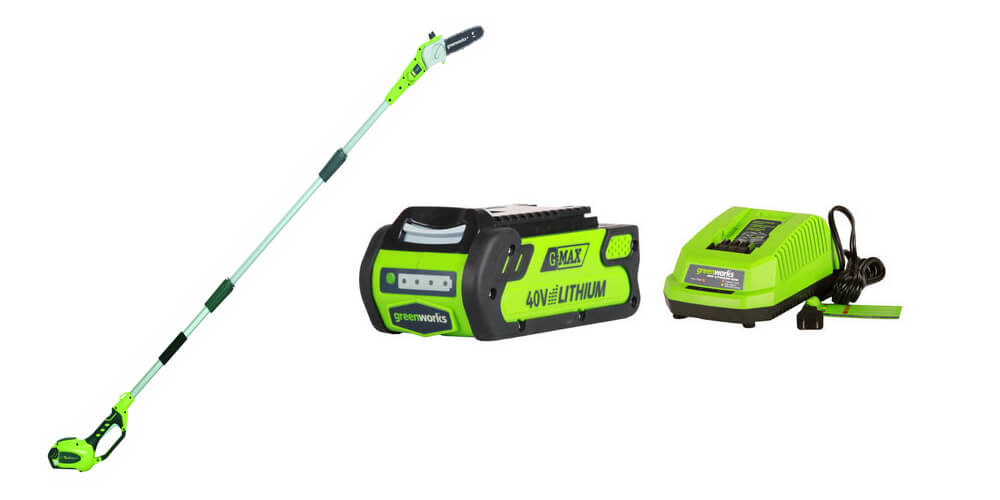 GreenWorks 20672 G-MAX 40V Li-Ion 8-Inch Cordless Pole Saw