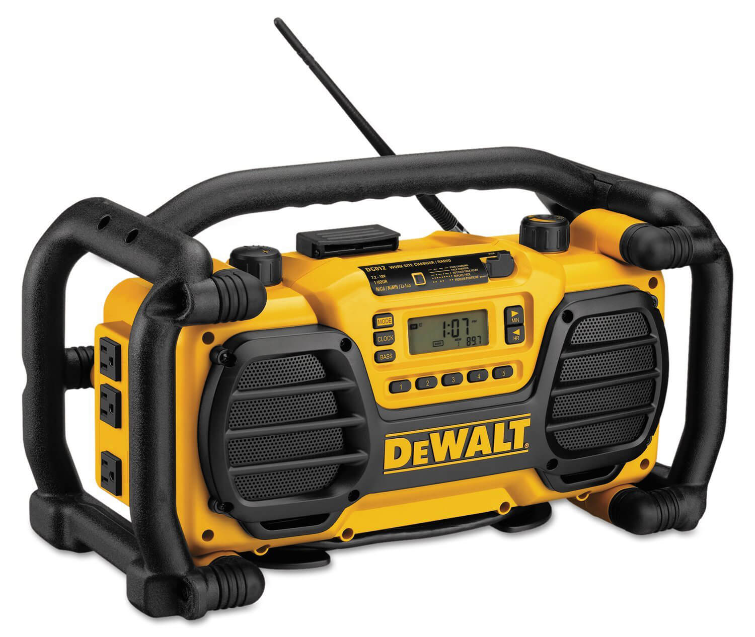 DEWALT DC012 7.2-Volt-18-Volt Heavy-Duty Worksite Radio
