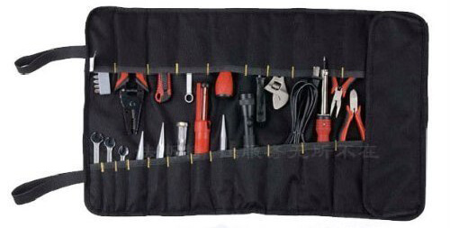 KLOUD City Black Nylon Multi-Purpose 22-Pocket Socket Tool Roll Pouch