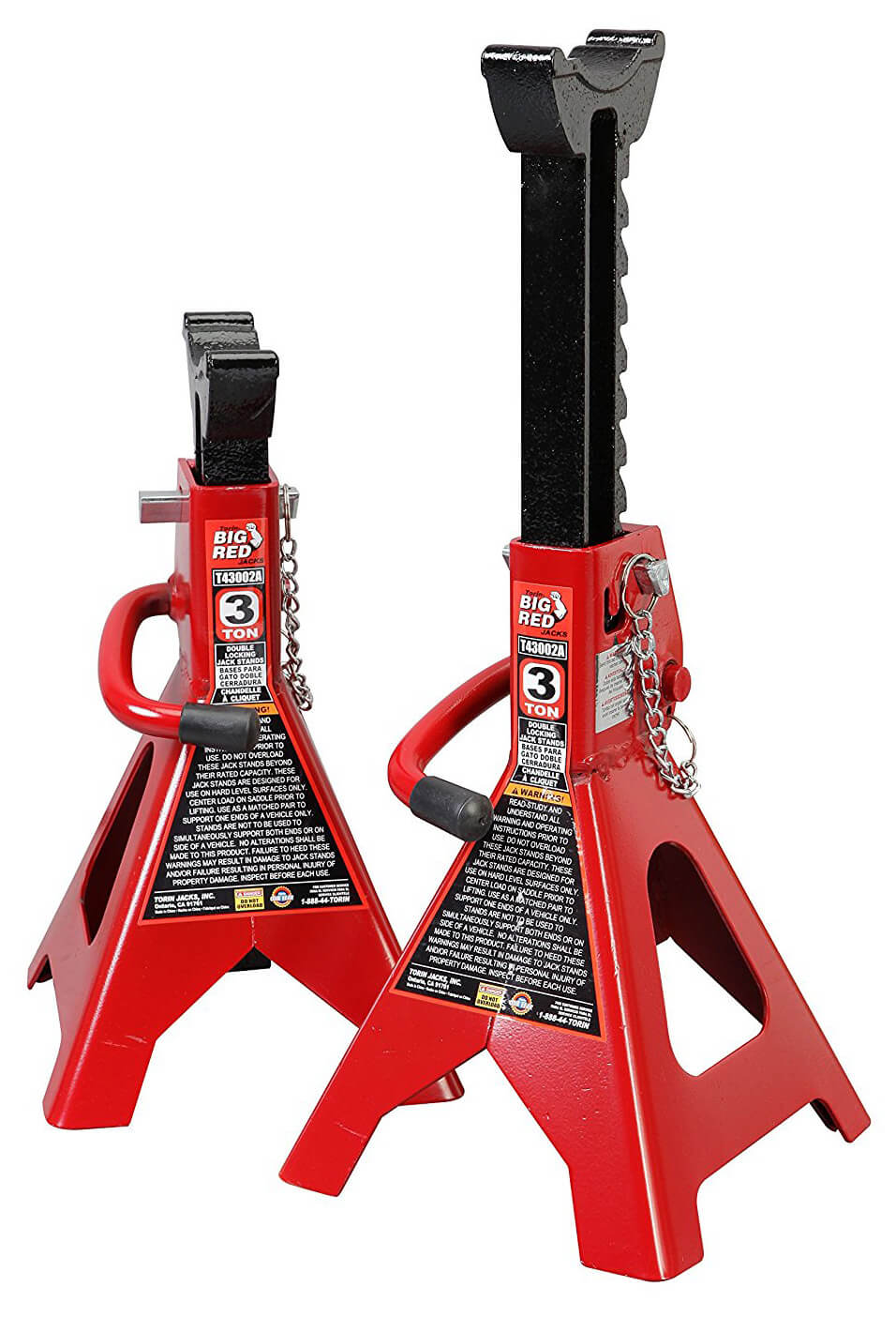 Torin T43002A 3 Ton Double Locking Jack Stands
