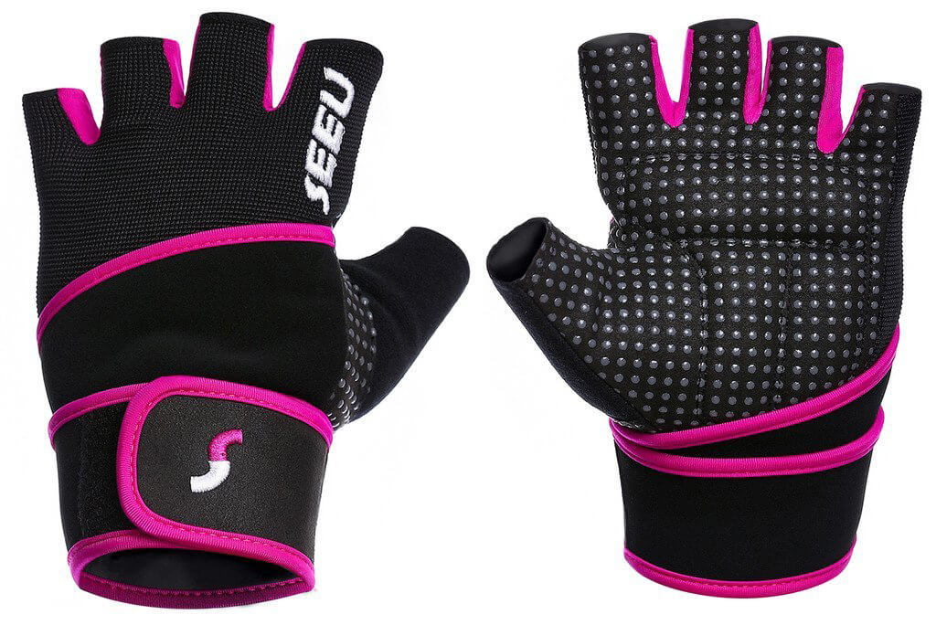 2-Fitness Women s Men s Weight Lifting Gloves with 45 Centimeter Wrist  Wrap 69d499c8a2
