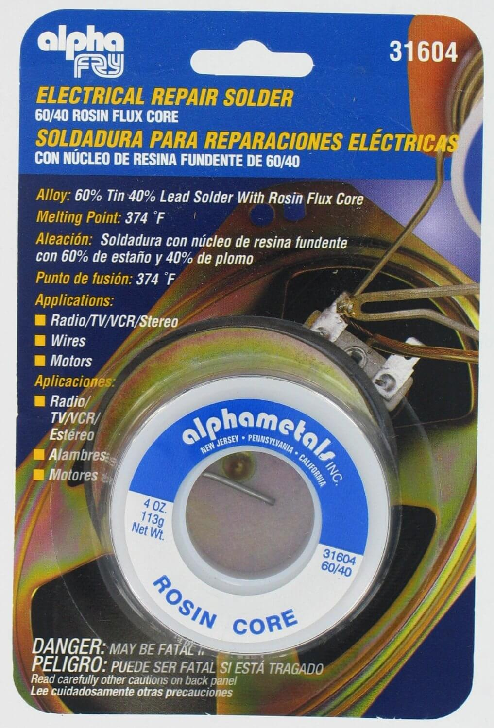 Alpha Fry AT-31604 60-40 Rosin Core Solder