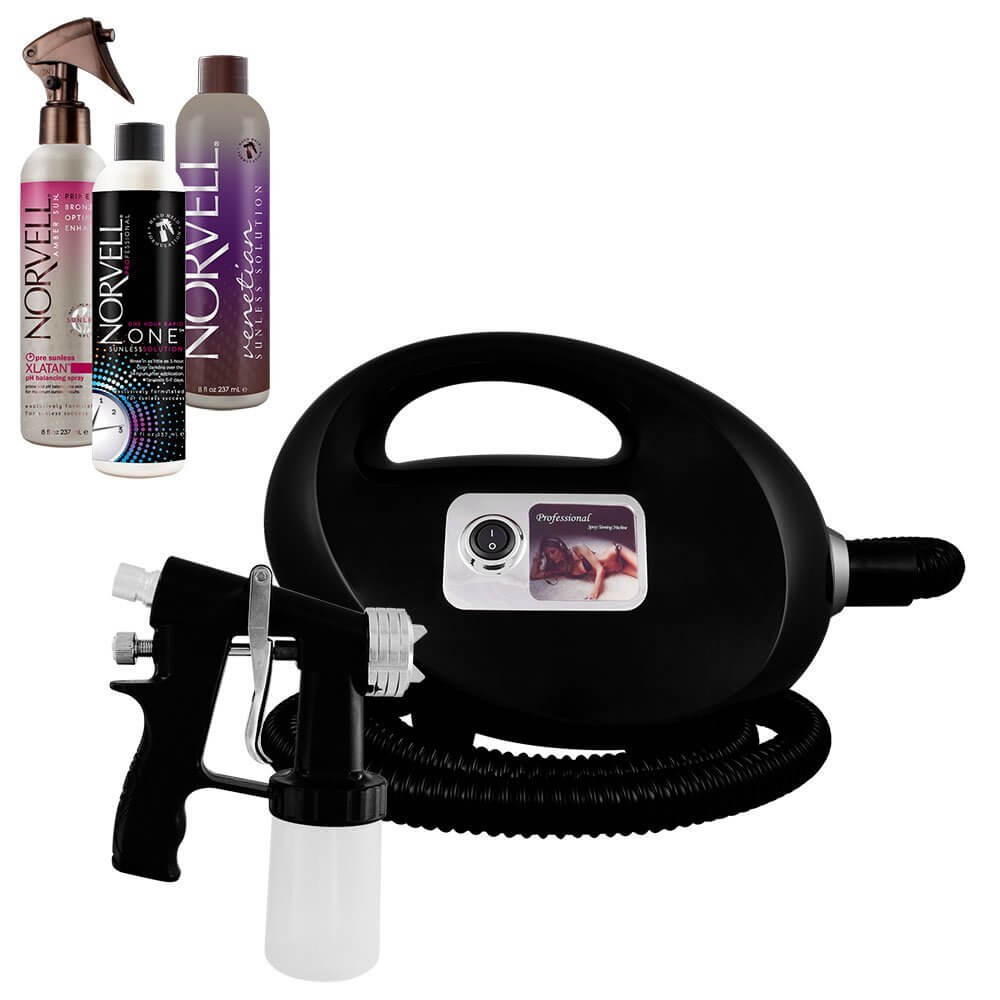 Fascination Spray Tanning Kit Machine Bundle with Norvell Venetian and ONE Spray Tan Solution