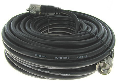 Steren 205-750 50-Feet UHF-UHF Mini-RG8x Cable