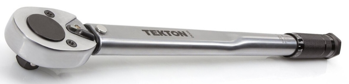 TEKTON 24335 1/2-Inch Drive Click Torque Wrench (10-150 ft.-lb./13.6-203.5 Nm)