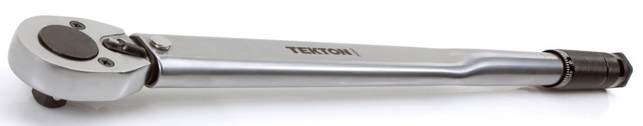 TEKTON 24340 1/2-Inch Drive Click Torque Wrench (25-250 ft.-lb./33.9-338.9 Nm)