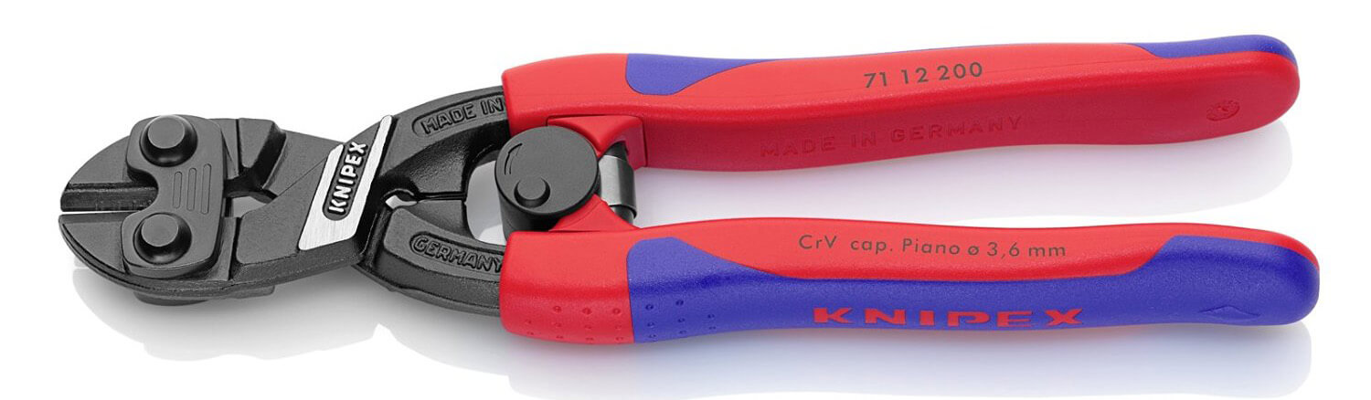 KNIPEX 71 12 200 Comfort Grip High Leverage Cobolt Cutters with Spring