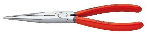 Knipex 2611200 Long Nose Pliers with Cutter, 8 Inch
