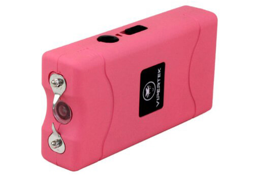 VIPERTEK VTS-880 - 25,000,000 V Mini Stun Gun Rechargeable with LED Flashlight