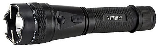 Vipertek VTS-195 Heavy Duty Stun Gun with Rechargeable LED Tactical Flashlight