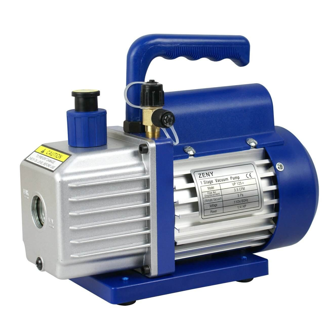 Zeny 3.5CFM Single-Stage 5 Pa Rotary Vane Economy Vacuum Pump